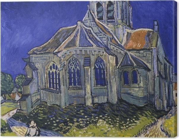 Leinwandbild Vincent van Gogh - Die Kirche von Auvers - Reproductions