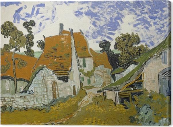 Leinwandbild Vincent van Gogh - Dorfstraße in Auvers - Reproductions