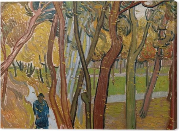 Leinwandbild Vincent van Gogh - Fallende Blätter - Reproductions
