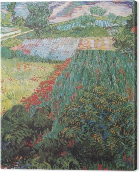 Leinwandbild Vincent van Gogh - Feld mit Mohnblumen - Reproductions
