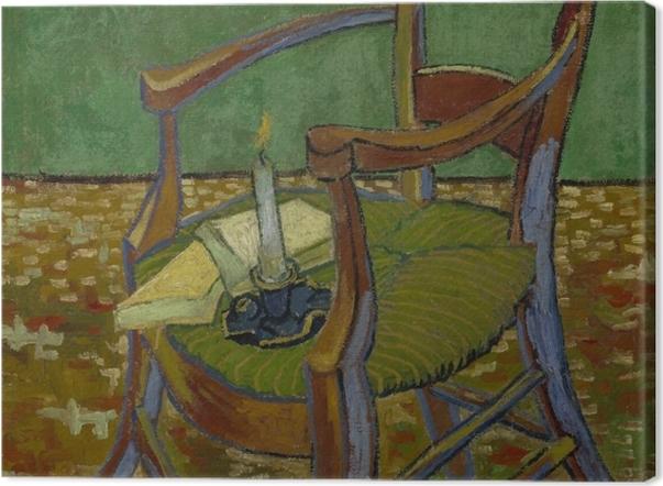 Leinwandbild Vincent van Gogh - Gauguins Stuhl - Reproductions