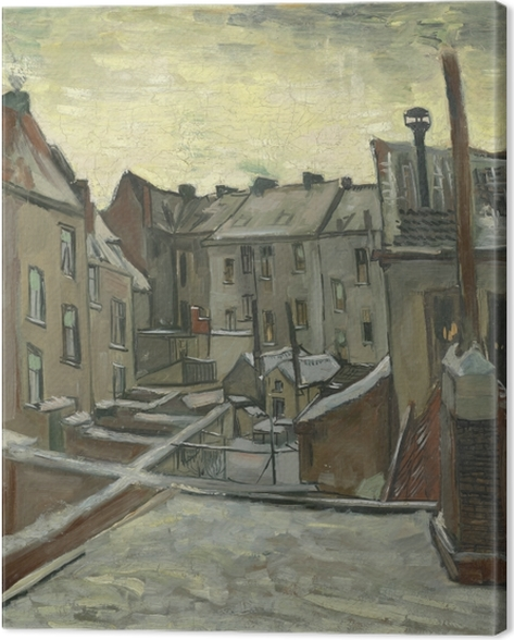 Leinwandbild Vincent van Gogh - Hinterhöfe der alten Häuser in Antwerpen - Reproductions