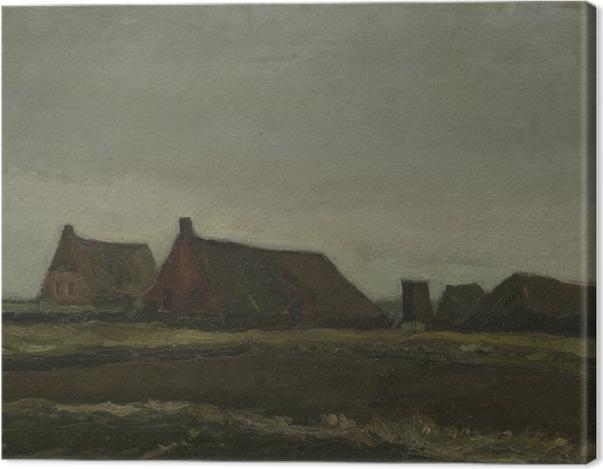 Leinwandbild Vincent van Gogh - Hütten - Reproductions