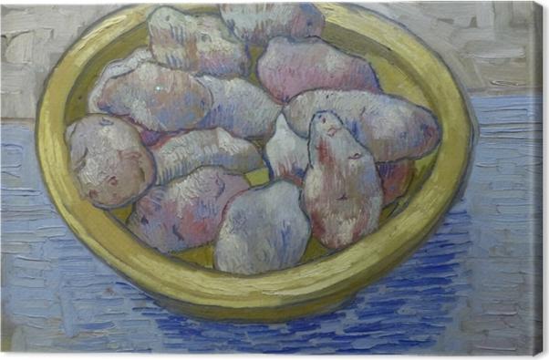 Leinwandbild Vincent van Gogh - Kartoffeln in gelber Schüssel - Reproductions