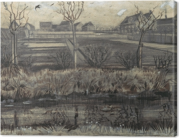 Leinwandbild Vincent van Gogh - Kindergarten am Schenkweg - Reproductions