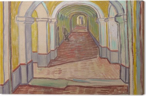 Leinwandbild Vincent van Gogh - Korridor im Asyl - Reproductions