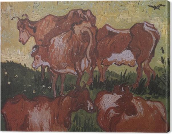 Leinwandbild Vincent van Gogh - Kühe - Reproductions