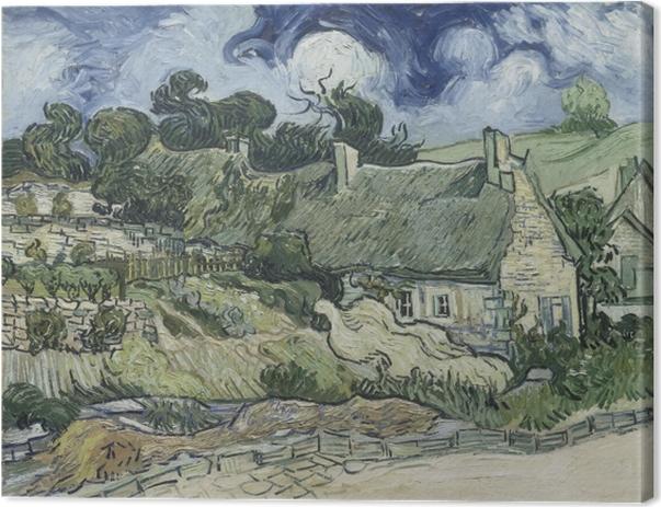 Leinwandbild Vincent van Gogh - Landschaft mit Hütten - Reproductions