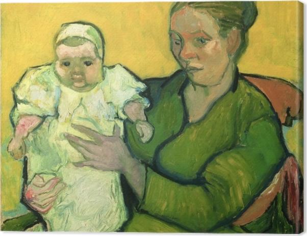Leinwandbild Vincent van Gogh - Madame Roulin mit ihrem Kind Marcelle - Reproductions