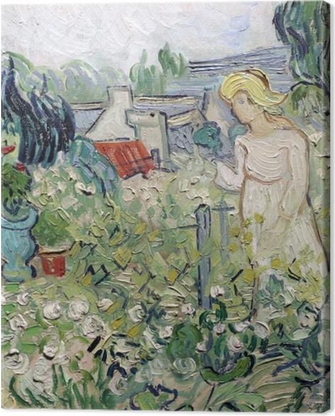 Leinwandbild Vincent van Gogh - Mademoiselle Gachet in ihrem Garten in Auvers - Reproductions