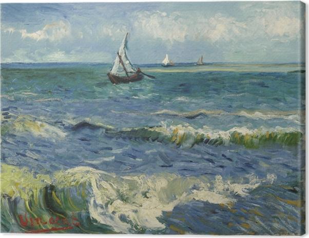 Leinwandbild Vincent van Gogh - Meerblick bei Saintes-Maries - Reproductions