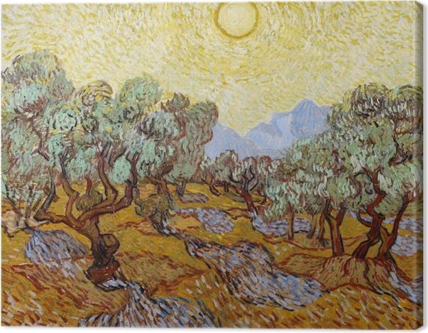 Leinwandbild Vincent van Gogh - Olivengarten - Reproductions