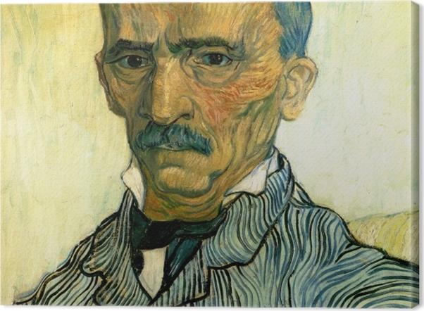 Leinwandbild Vincent van Gogh - Porträt des Oberwärters der Irrenanstalt Saint-Paul, Trabuc - Reproductions