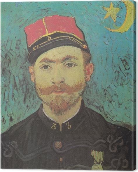 Leinwandbild Vincent van Gogh - Porträt von Milliet - Reproductions