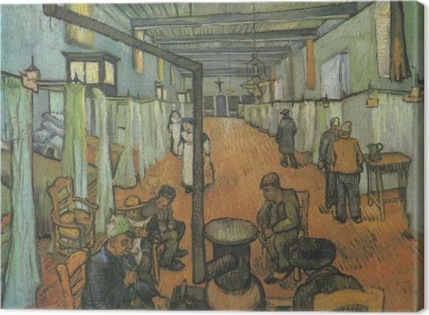 Leinwandbild Vincent van Gogh - Schlafsaal im Hospital in Arles - Reproductions