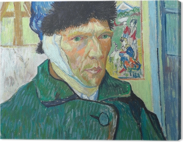 Leinwandbild Vincent van Gogh - Selbstbildnis mit verbundenem Ohr - Reproductions