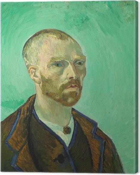 Leinwandbild Vincent van Gogh - Selbstbildnis (Paul Gauguin gewidmet) - Reproductions