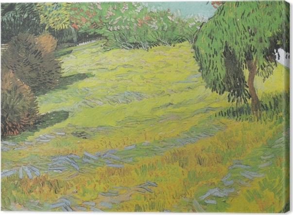 Leinwandbild Vincent van Gogh - Sonniger Rasen in einem öffentlichen Park - Reproductions