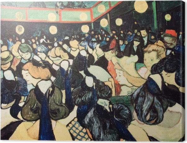 Leinwandbild Vincent van Gogh - Tanzsaal in Arles - Reproductions