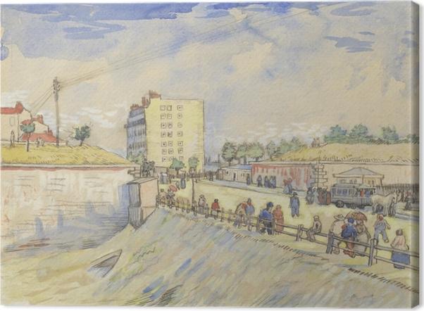 Leinwandbild Vincent van Gogh - Tor in den Pariser Stadtmauern - Reproductions