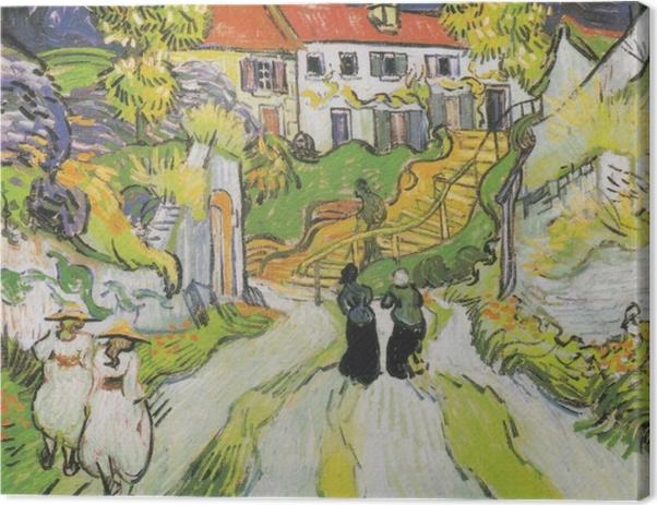Leinwandbild Vincent van Gogh - Treppe in Auvers - Reproductions