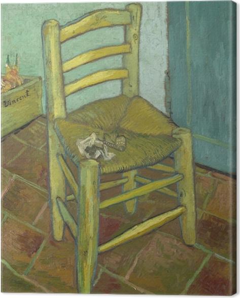 Leinwandbild Vincent van Gogh - Van Goghs Stuhl - Reproductions