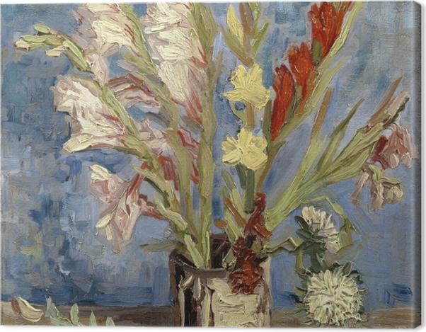 Leinwandbild Vincent van Gogh - Vase mit Gladiolen - Reproductions