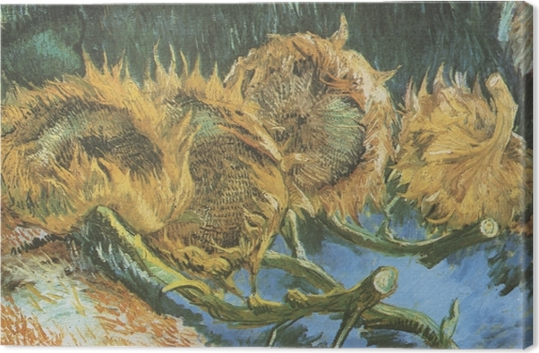 Leinwandbild Vincent van Gogh - Vier geschnittene Sonnenblumen - Reproductions