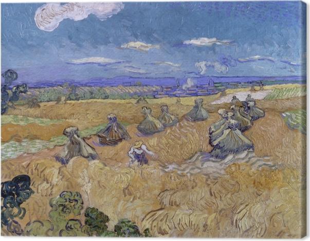 Leinwandbild Vincent van Gogh - Weizenfeld mit Schnitter - Reproductions