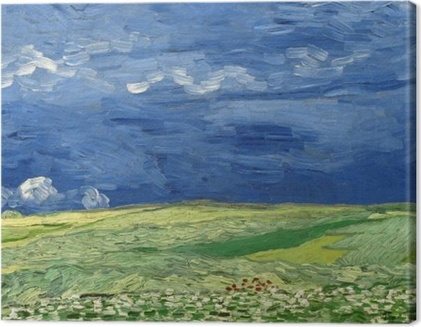 Leinwandbild Vincent van Gogh - Weizenfeld unter Gewitterwolken - Reproductions