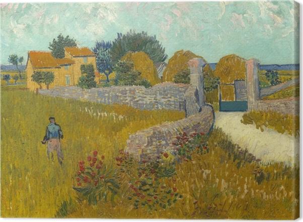 Leinwandbild Vincent van Gogh - Weizenfeld - Reproductions