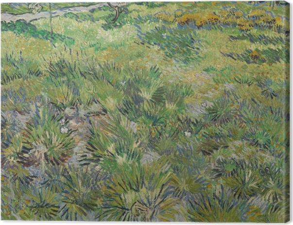 Leinwandbild Vincent van Gogh - Wiese im Garten des Hospitals Saint-Paul - Reproductions