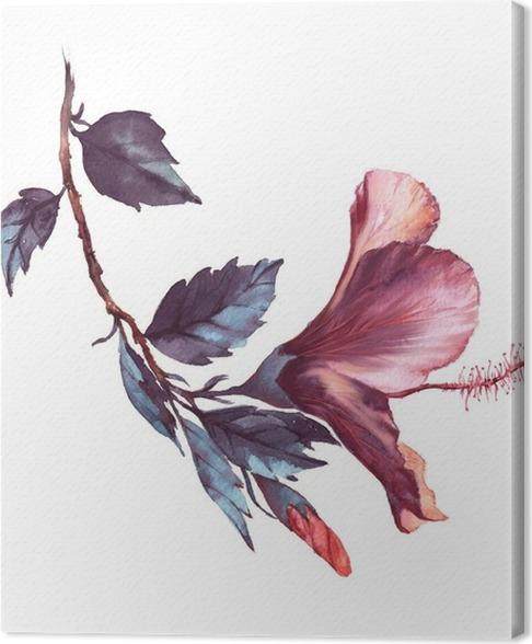 Leinwandbild Von Hand gezeichnet Aquarell floral Illustration des ...