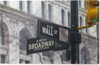Leinwandbild Wall Street. Straßenschild, New York, USA.