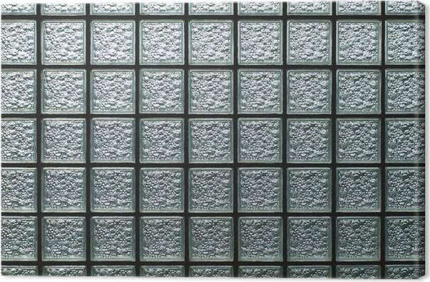 Leinwandbild Wand aus Glasbausteinen • Pixers® - Wir leben, um zu ...