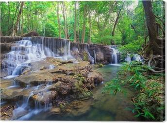 Leinwandbild Wasserfall in den Tiefen des Waldes, Thailand