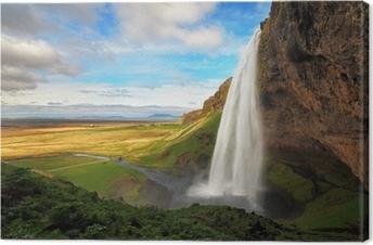 Leinwandbild Wasserfall in Island - Seljalandsfoss