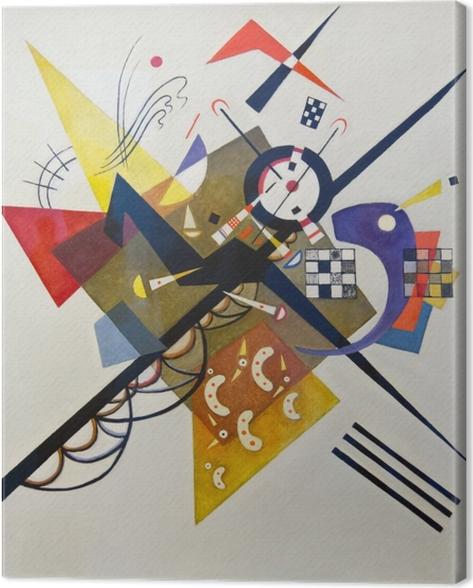 Leinwandbild Wassily Kandinsky - Auf Weiß II - Reproduktion