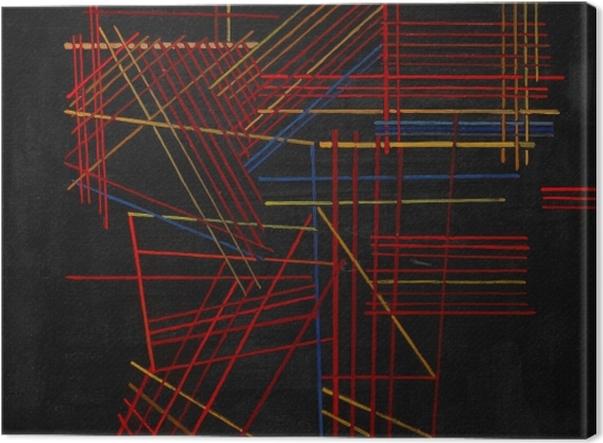 Leinwandbild Wassily Kandinsky - Bunte Stäbchen - Reproduktion