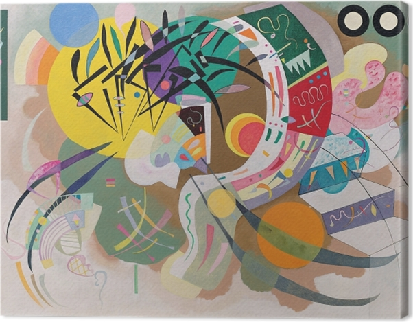 Leinwandbild Wassily Kandinsky - Dominante Kurve - Reproduktion