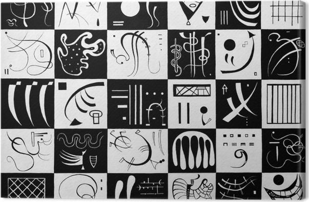 Leinwandbild Wassily Kandinsky - Dreißig - Reproduktion