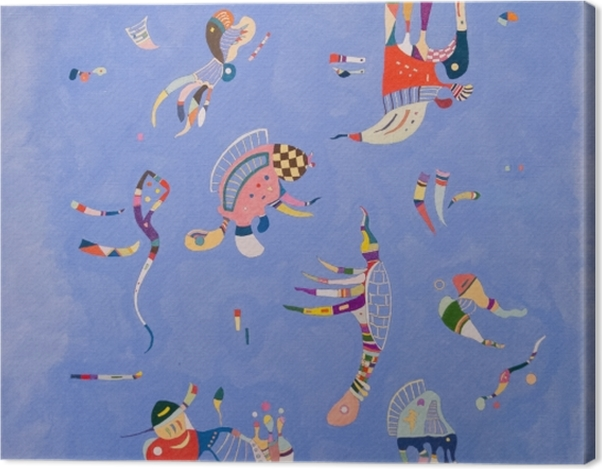 Leinwandbild Wassily Kandinsky - Himmelblau - Reproduktion