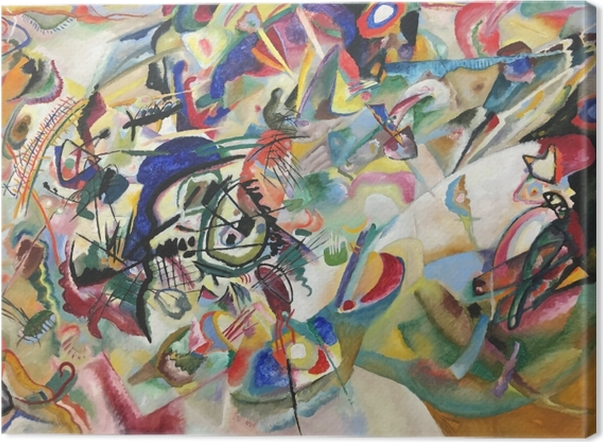 Leinwandbild Wassily Kandinsky - Komposition VII - Reproduktion