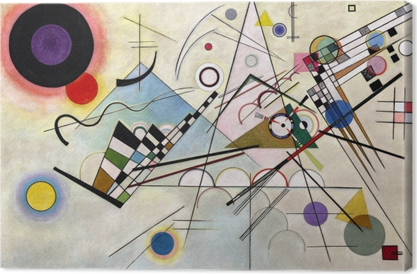 Leinwandbild Wassily Kandinsky - Komposition VIII - Reproduktion