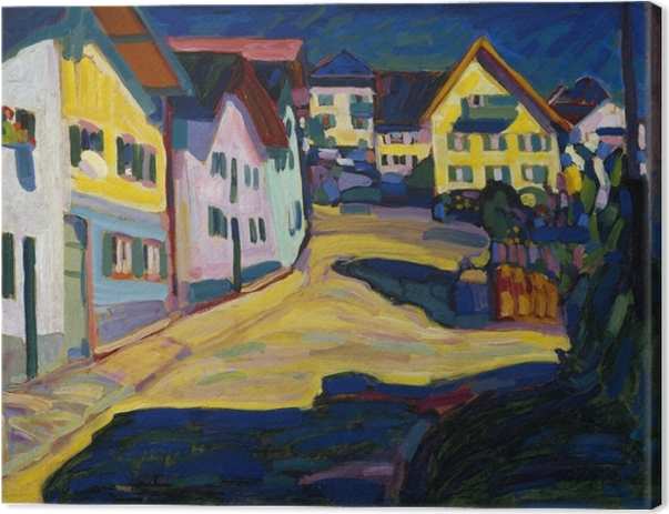 Leinwandbild Wassily Kandinsky - Murnau Burggrabenstrasse - Reproduktion