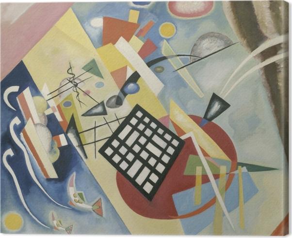 Leinwandbild Wassily Kandinsky - Schwarzer Raster - Reproduktion