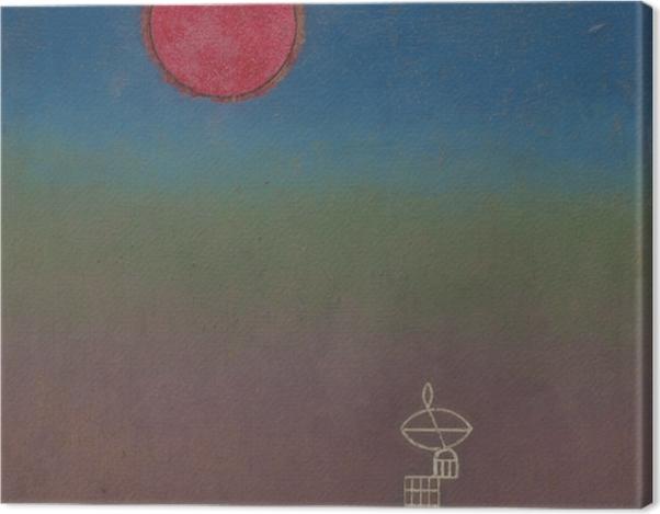 Leinwandbild Wassily Kandinsky - Weit weg - Reproduktion