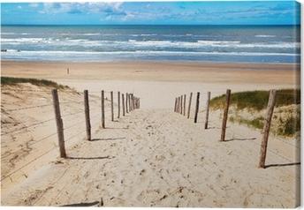 Leinwandbild Weg zum Strand