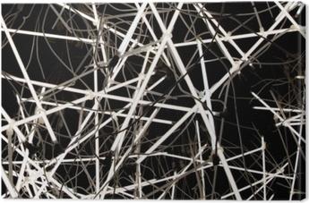 Leinwandbild Weiche Hintergrundbeschaffenheit der Neonröhren