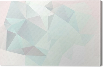Leinwandbild Weichen Pastell abstrakten geometrischen Hintergrund mit Farbverlauf Vektor